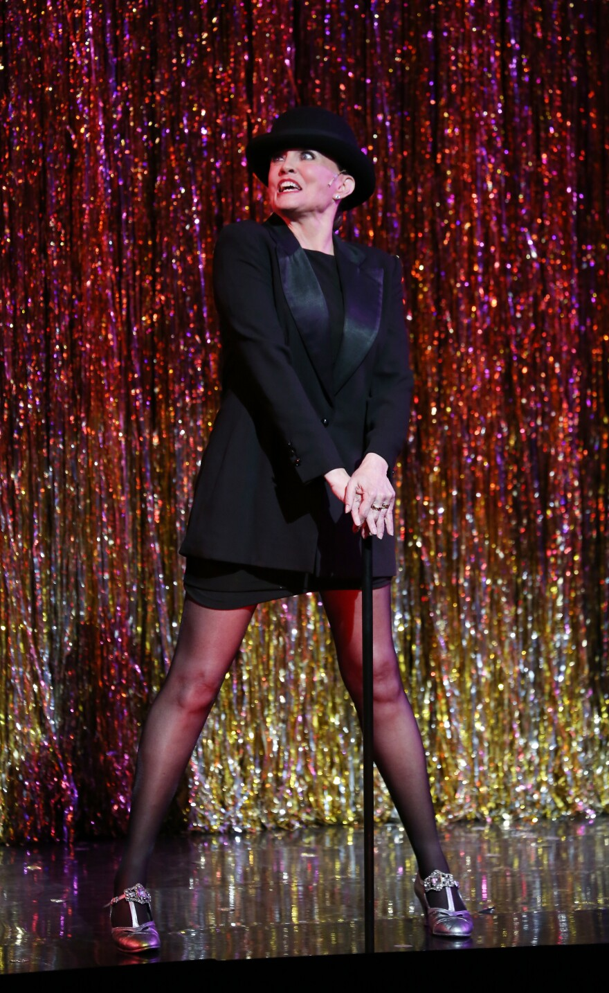 The actress, dancer and choreographer is pictured during a performance of <em>Chicago</em> as it became the second longest running show in Broadway history in 2014 in New York City.