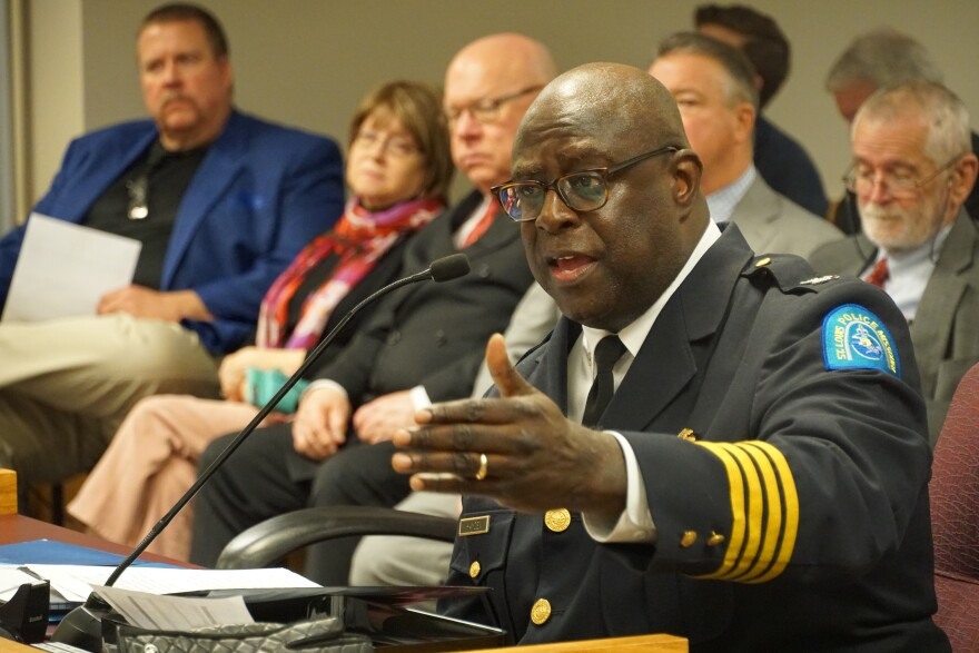 St. Louis Police Chief John Hayden testifies in committee hearing on Tuesday, Jan. 14 about residency requirement.
