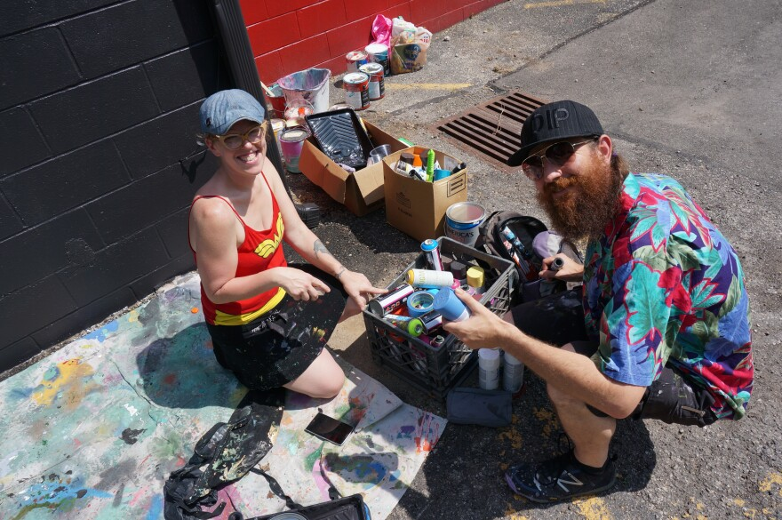 "Tiffany Allyn Clark and Christopher ""Etch"" Weyrich are Mural Machine."