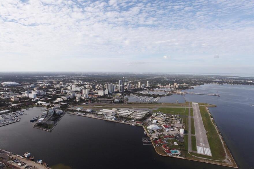 Aerial view of downtown St. Petersburg