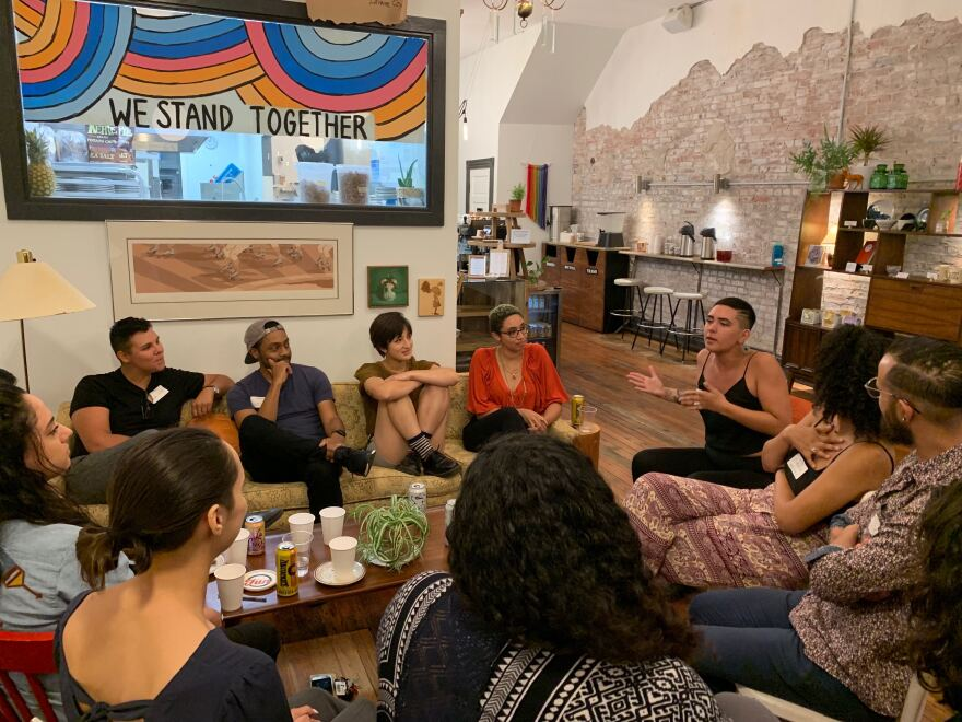 Mixed Feelings meets monthly. The group founded by Alyson Thompson met at Rise Coffee House in September for its launch party. September 9, 2019