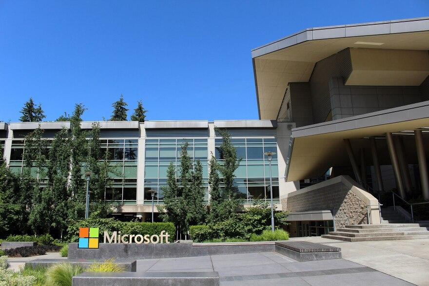 The Microsoft headquarters in Redmond, Washington.