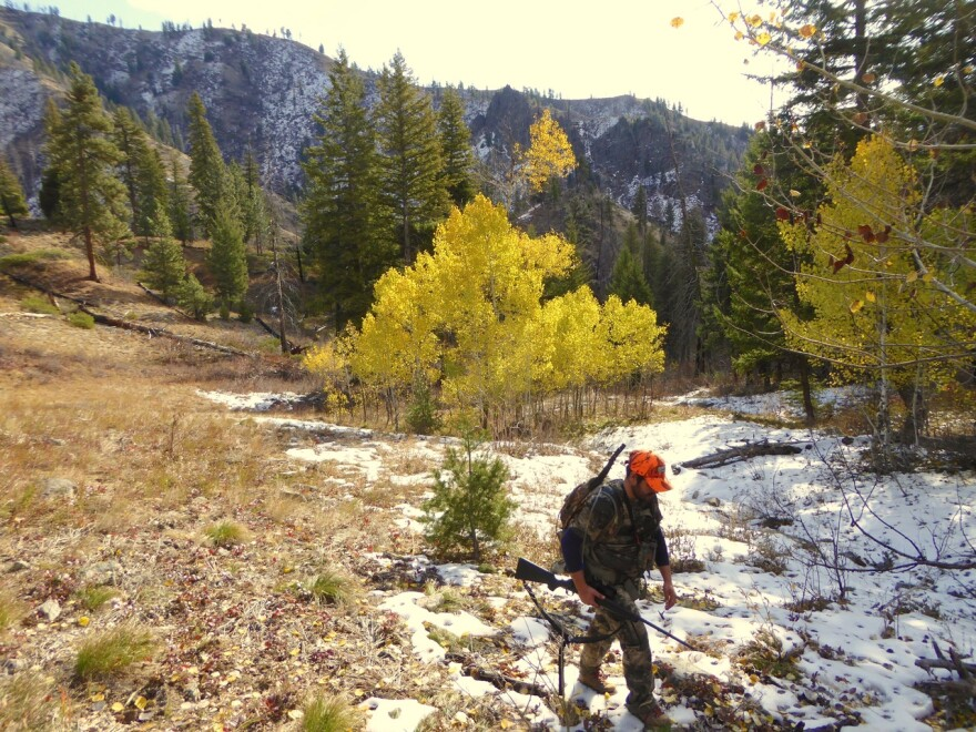 Reporter Heath Druzin on his first elk hunt in central Idaho. To stem declining hunting numbers, sportsmen groups are targeting people in their 20s-40s who didn't grow up with hunting but are interested in harvesting their own meat.