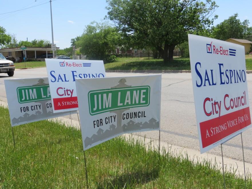 fw election lane espino signs.jpg