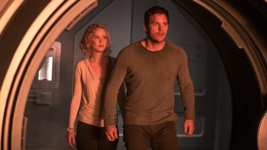A Wake-Up Call Comes 90 Years Early: Jennifer Lawrence and Chris Pratt in <em>Passengers</em>.