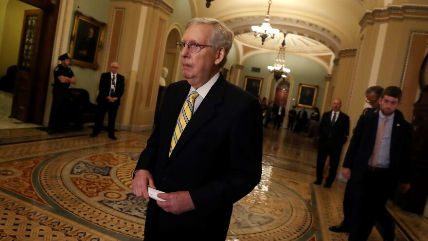 After holding up earlier legislation, Senate Majority Leader Mitch McConnell, R-Ky., has agreed to $250 million for election security.