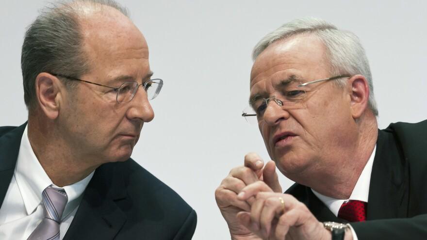 VW Chairman Hans Dieter Pötsch, left, seen here with his predecessor Martin Winterkorn, has been at Volkswagen since 2003.