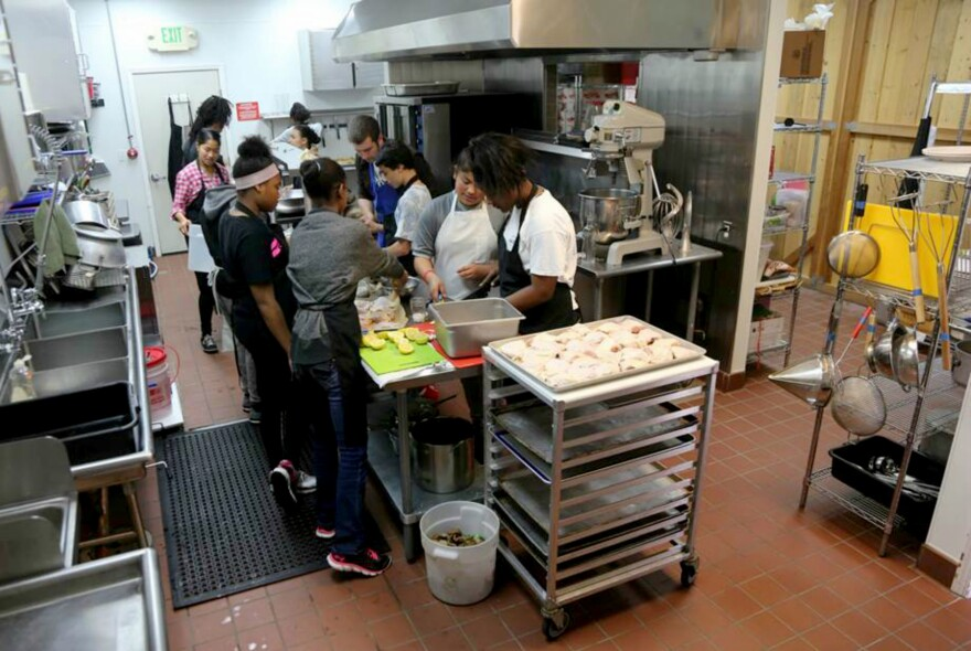 """The recipes these teen chefs cook up follow the <a href=""""http://www.aicr.org/new-american-plate/cancer-preventive-diet-model-plate.html"""" target=""""_blank"""">American Institute of Cancer Research's recommendation</a> that meals should be two-thirds plant-based whole foods."""