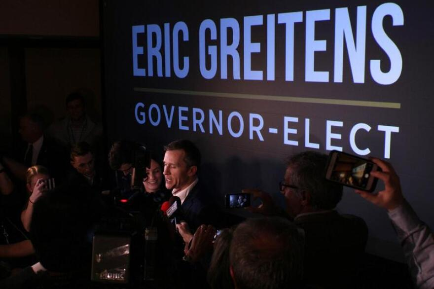 """Eric Greitens on the trail and in victory said """"If you want different, do different."""""""