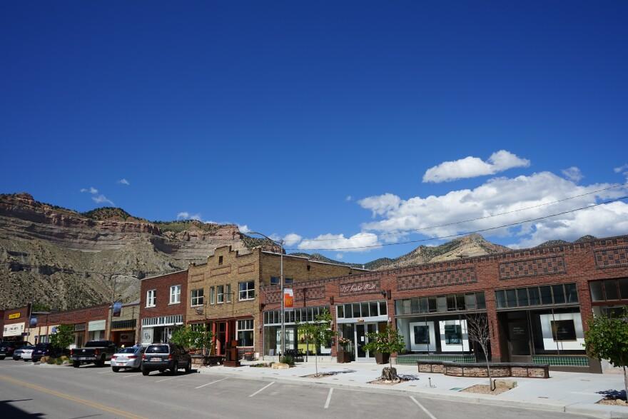 Photo of Helper Main Street.