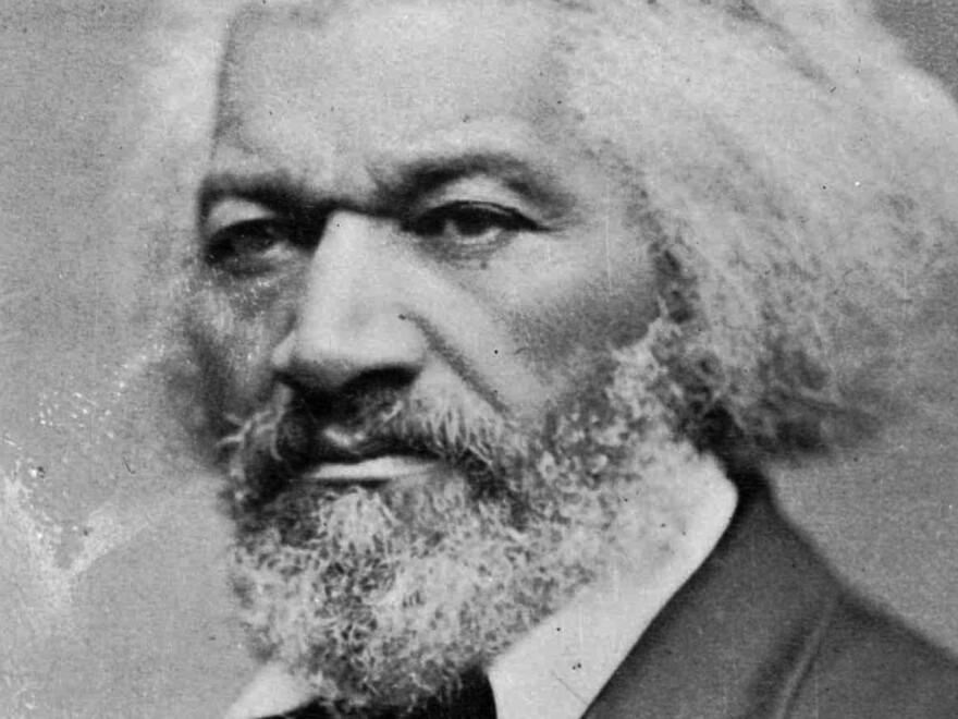"A statue of the abolitionist and writer Frederick Douglass, pictured here, was torn from its base in Rochester, N.Y., on the anniversary of his famous speech ""What to the Slave Is the Fourth of July?"""