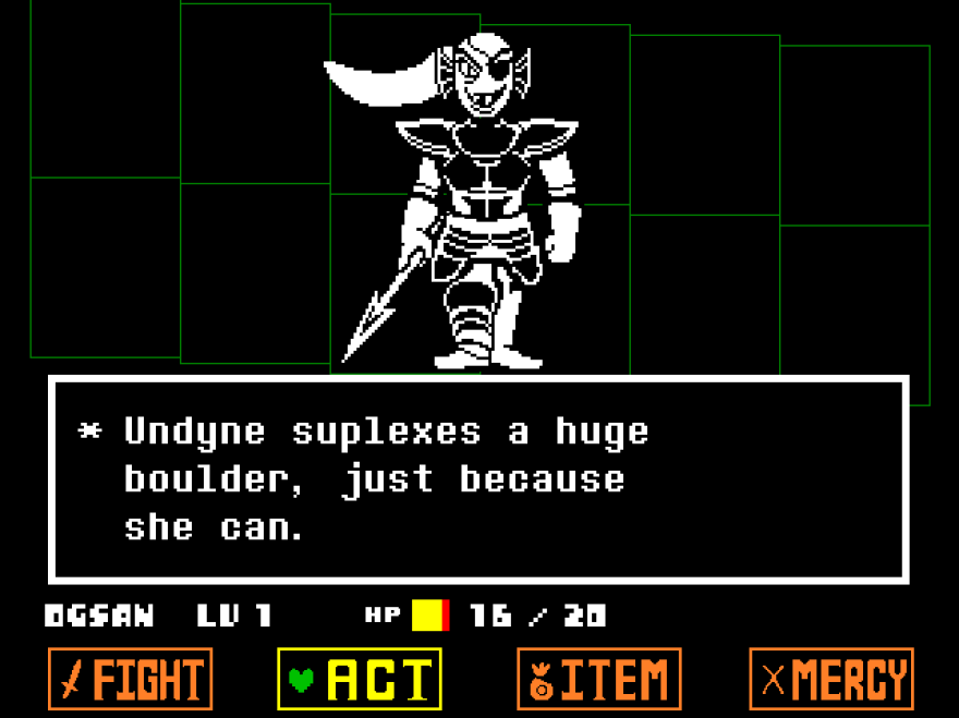 <em>Undertale</em> allows you — and eventually encourages you — to resolve monster encounters without violence.