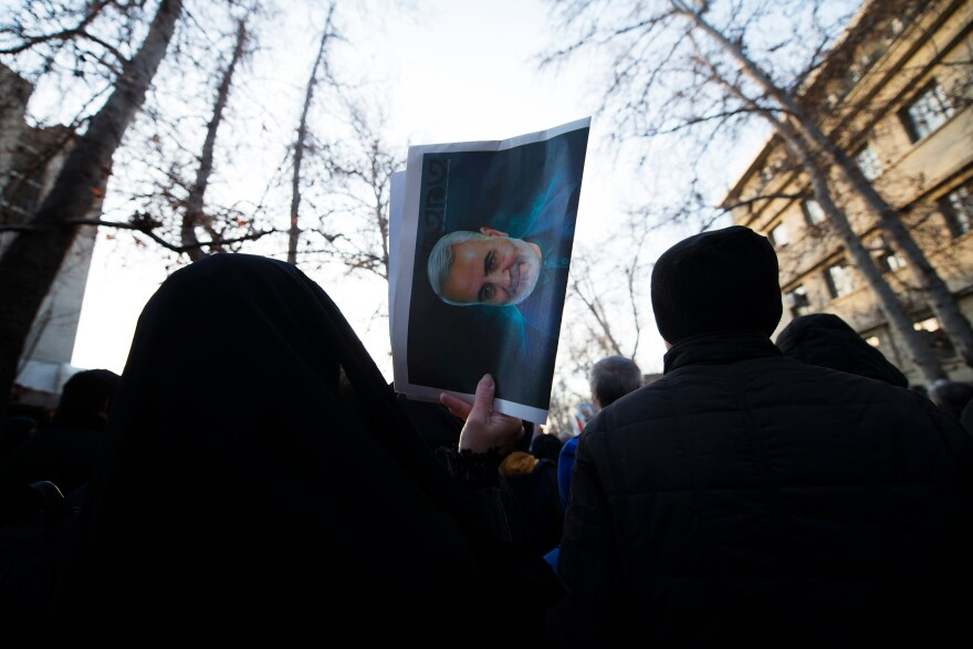 "Ordinary Iranians wept, clutched photos of Soleimani and chanted ""death to America"" on the streets of Tehran."
