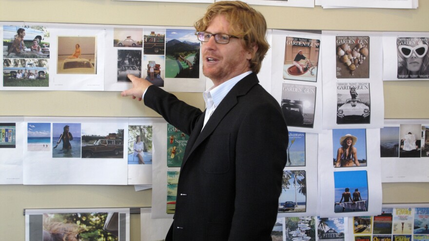 David DiBenedetto, the editor-in-chief of <em>Garden & Gun, </em>holds an editorial meeting in the magazine's Charleston, S.C., offices.