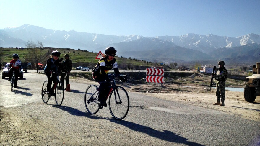 The women of the Afghan National Cycling Federation team train outside Kabul, the capital. They face poor road conditions, terrible traffic, lots of gawking and even threats of violence in pursuit of their sport.