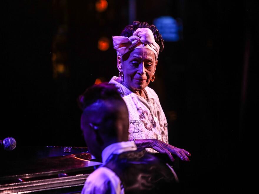 Cuban vocalist Omara Portuondo performs at <em>Artes de Cuba</em> kick-off concert.