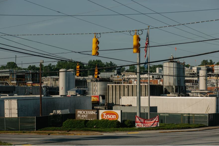 Tyson Farms meat processing plant in Wilkesboro was temporarily closed for cleaning after workers tested positive for COVID-19