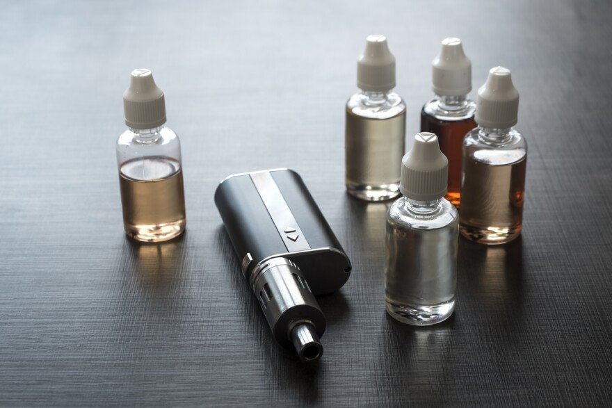 A vape device with flavor refills.