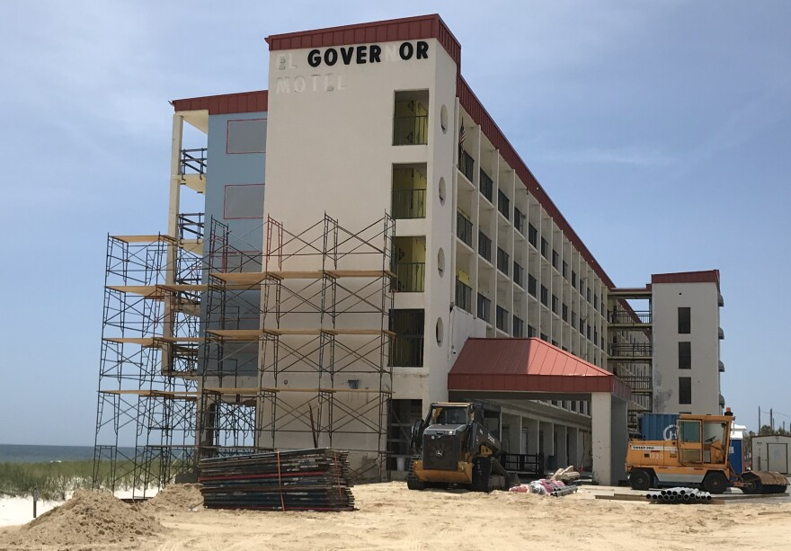 The El Governor Motel's construction was halted for three weeks to protect workers in the early days of the pandemic. Its reopen date wasn't affected by the virus. But the RV Park next door will open later than planned.