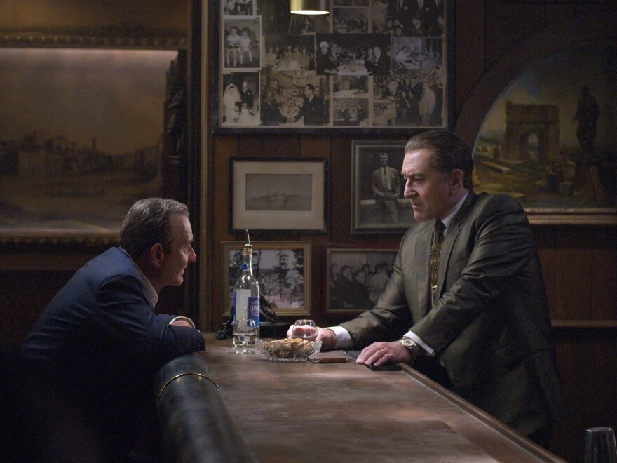 Joe Pesci and Robert De Niro play friends — and mobsters — in <em>The Irishman. </em>