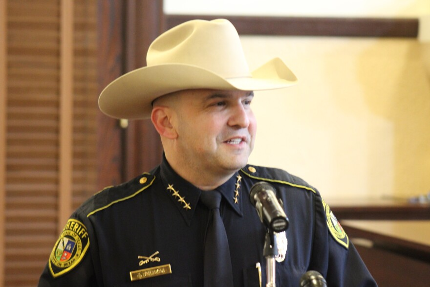 Bexar County Sheriff Javier Salazar speaks in a TPR file photo.