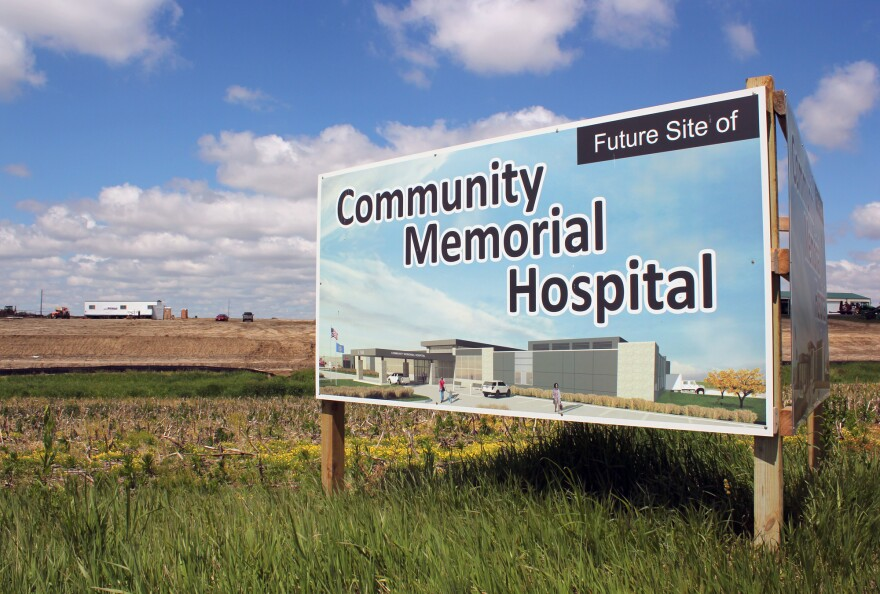A new hospital, financed by a USDA loan, is under construction in Syracuese, Nebraska, a town of under 2,000 people.