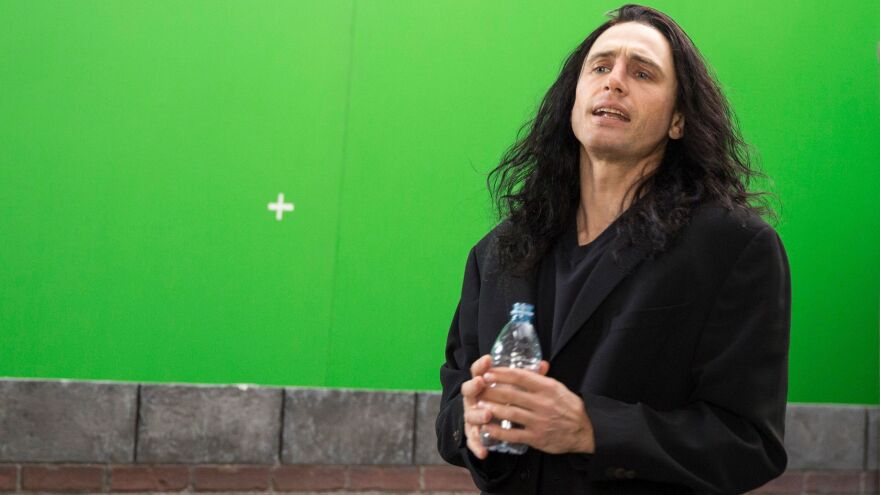 "James Franco plays eccentric filmmaker Tommy Wiseau in <em>The Disaster Artist</em>. Franco says Wiseau ""looks sort of like a mix between a vampire and a pirate and Michael Jackson. ... He has long black hair that looks like it's dyed with magic marker."""