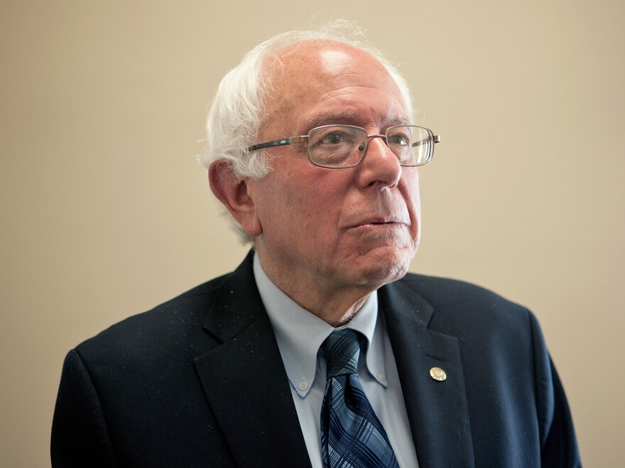 Presidential candidate and Vermont Sen. Bernie Sanders is seen Wednesday in his Senate office in Washington, D.C.