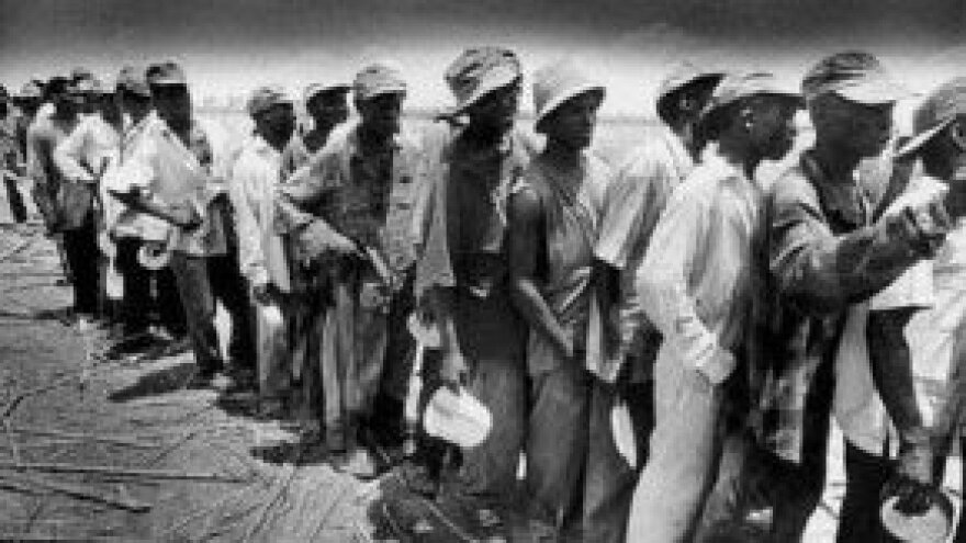 1937: Haitians who were hoping to escape the killing in the Dominican Republic.
