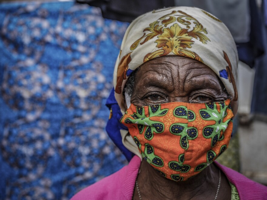 A woman at a market in the eastern Congolese city of Bukavu.