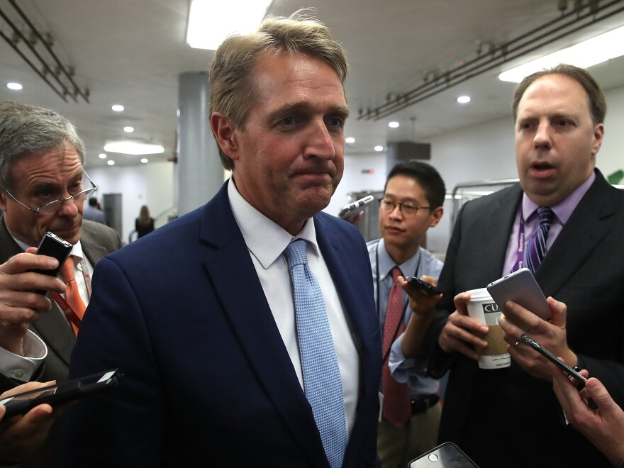 President Trump has had harsh words for Sen. Jeff Flake and recently praised Flake's primary challenger ahead of Trump's visit to Phoenix.