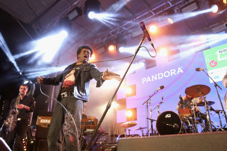 Charles Bradley and The Extraordinaires perform during the PANDORA Discovery Den SXSW on March 19, 2016 in Austin, Texas.