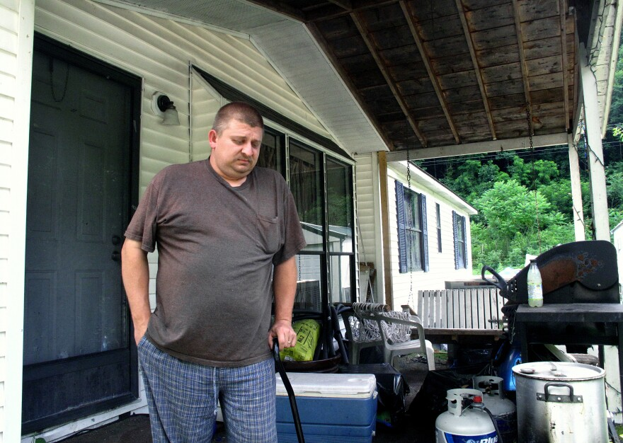 The injuries Jack Blankenship sustained after a 300-pound rock pinned him to the ground while working in a coal mine prevent him from sitting for long periods of time or walking far. He says he's in constant pain.