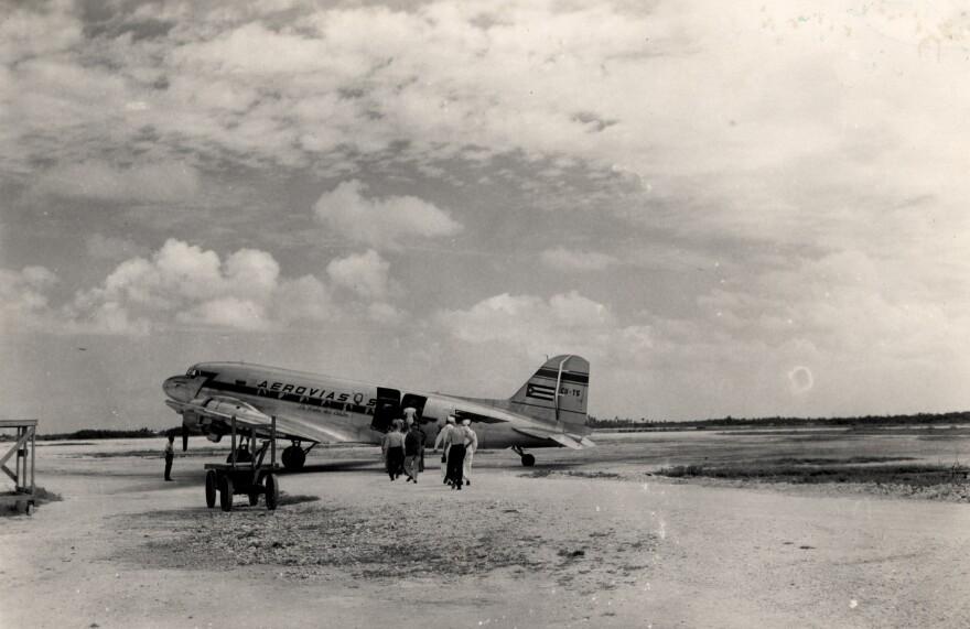 An Aerovias Q plane at Key West Airport.