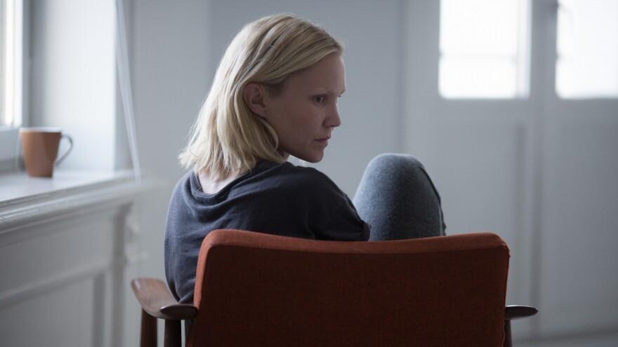 Ingrid (Ellen Dorrit Petersen) copes with her recent loss of vision in Eskil Vogt's <em>Blind</em>.