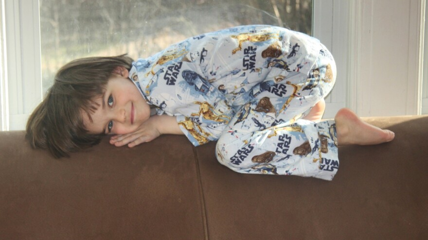 Ben Blier, 5, of Washington, D.C., is obsessed with <em>Star Wars, </em>especially the books and Legos, according to his mom, Nancy.