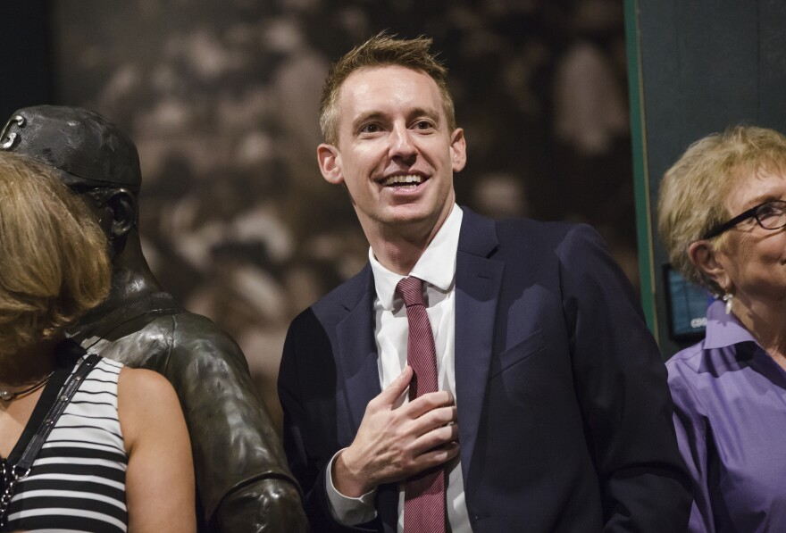 Jason Kander announced Tuesday that he is dropping out of the Kansas City mayoral race, citing his battle with depression and symptoms of PTSD.