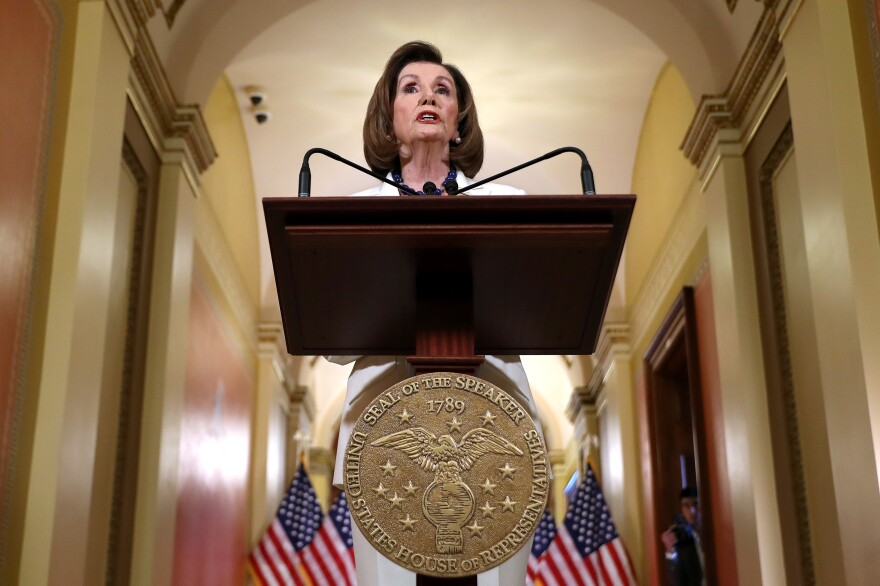 House Speaker Nancy Pelosi, D-Calif., announced at the Capitol on Thursday that the House is drafting articles of impeachment against President Trump.