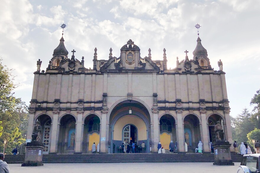 The Holy Trinity Cathedral in Ethiopia's capital, where many national heroes are buried.