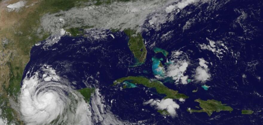 Hurricane Franklin passes over Mexico's Yucatán Peninsula.