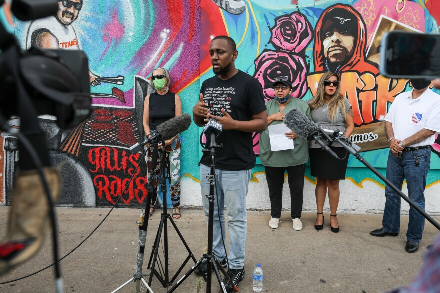 Chas Moore, executive director of the Austin Justice Coalition, and others are calling for change within the Austin Police Department.