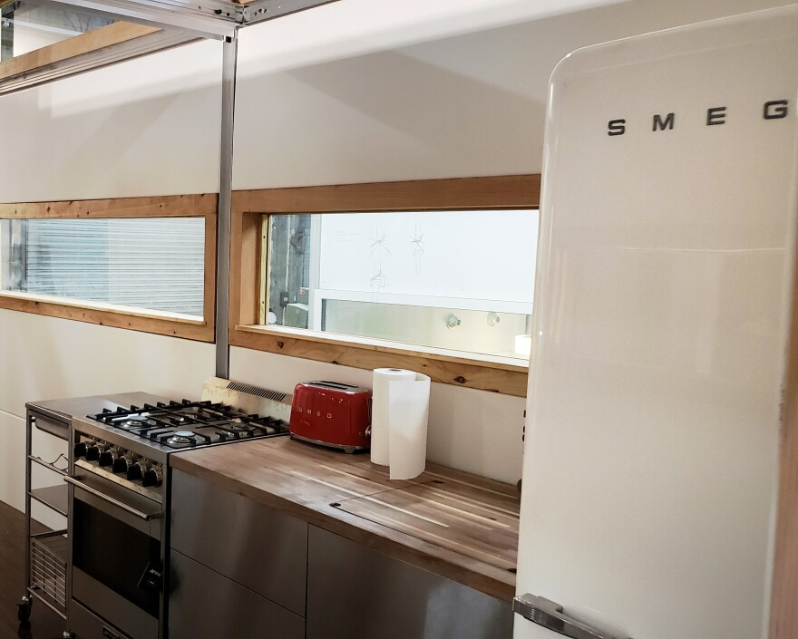 The AbleNook can be custom equipped with Smeg appliances.