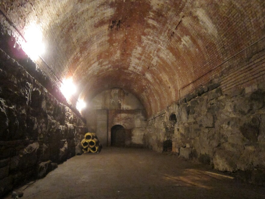 The caverns below the 60,000-ton granite entrances were dark and consistently cool, ideal places to house even the most delicate vintage Bordeaux, Burgundy or Champagne.