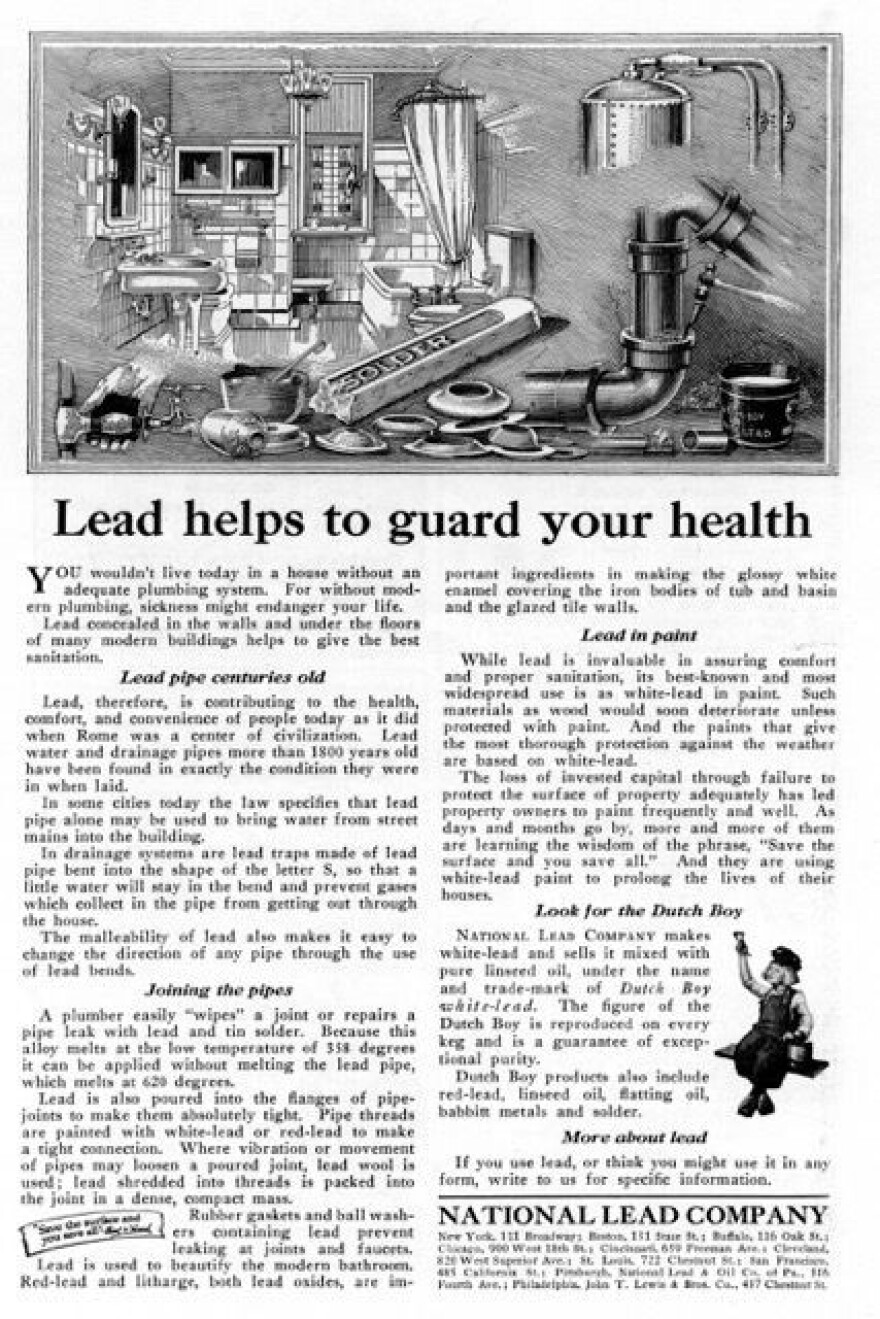 A 1923 advertisement from the National Lead Company.