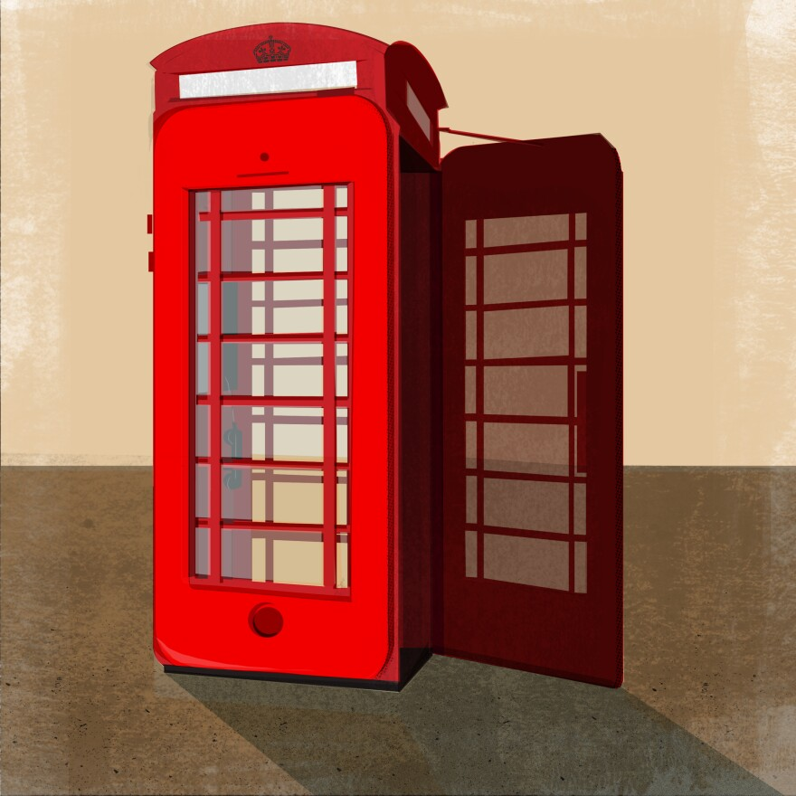 Maria Fabrizio illustration for story: Some Brits Not Ready To Say 'Ta-Ra' To Iconic Telephone Box