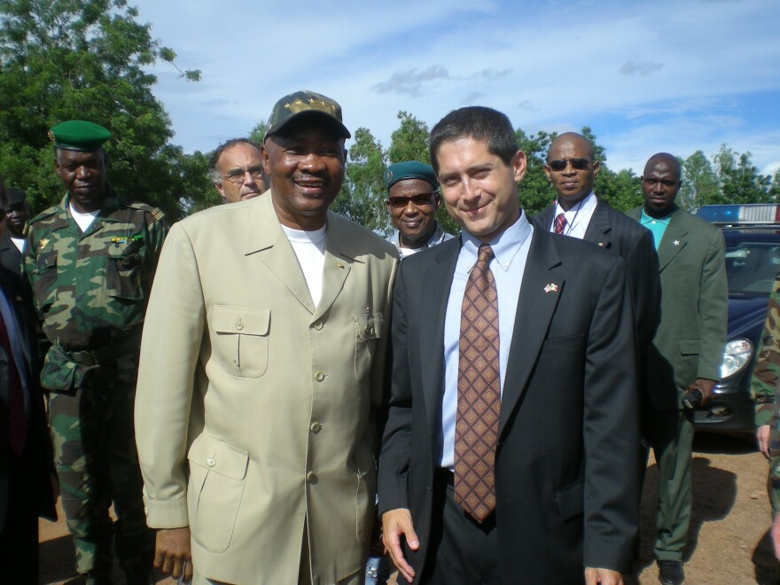 Todd Moss and President Toure of Mali in September 2007. Toure was deposed in a coup five years later.