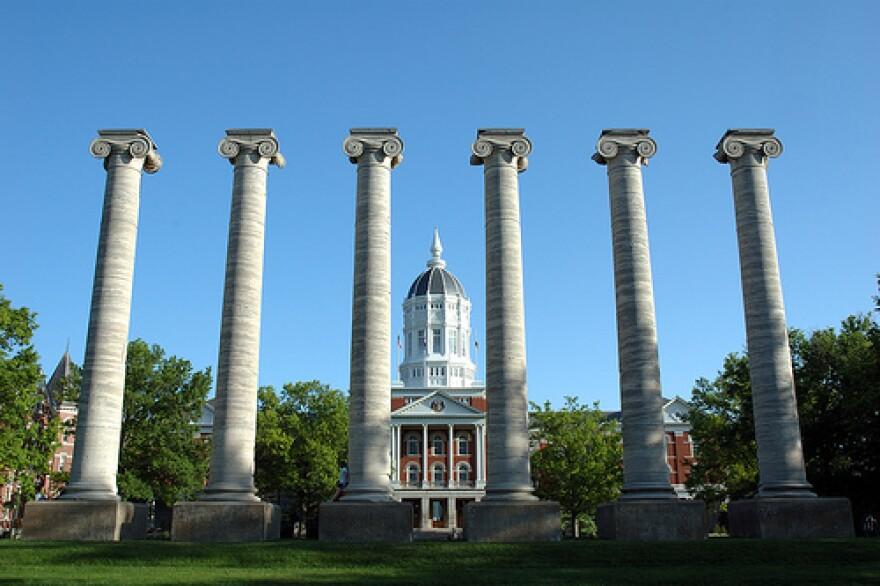 The columns at the University of Missouri-Columbia.