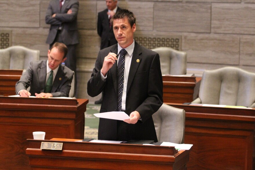 Sen. Andrew Koenig, R-Manchester, speaks on July 25, 2017, during the Missouri General Assembly's special session. Koenig is the sponsor of legislation to restrict abortion.
