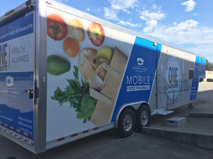 One of two new mobile food pantries.