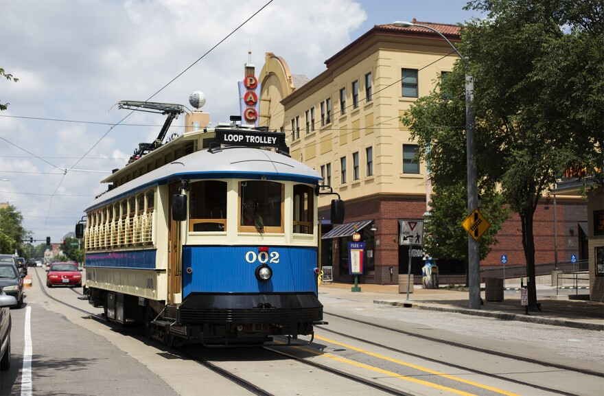 The Loop Trolley during a test drive on June 13, 2018.